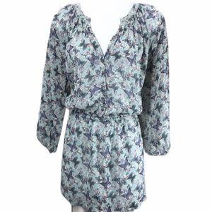 MOSSIMO Sheer Chiffon Butterfly Long Blue Plus XXL